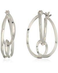 Napier - Silver-tone Layered Hoop Earrings - Lyst
