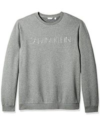 Calvin Klein - Long Sleeve Heat Transfer Logo Pullover Sweatshirt - Lyst