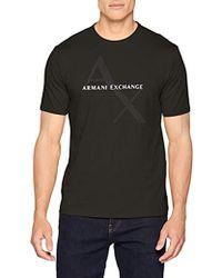Armani Exchange -   Tonl Nd Contrst Logo Core Crew Neck - Lyst