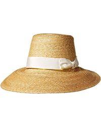 431a5e19a0b Lyst - Gottex Vivienne Fine Milan Straw Packable Sun Hat