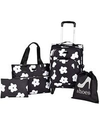 Kensie - White Flowers 4 Piece Fashion Luggage And Travel Set - Lyst