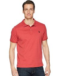 U.S. POLO ASSN. - Classic Fit Solid Short Sleeve Interlock Polo Shirt - Lyst