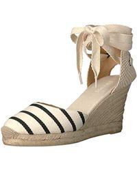 dbef3bc3aeda Lyst - Soludos Wedge Woven Sandal Womens Gatsby Dali Classic Stripe ...