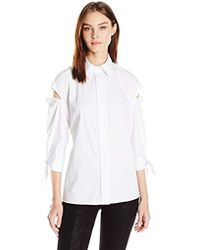 MILLY - Slitted Avery Top - Lyst