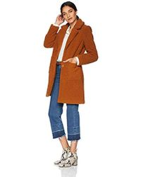 French Connection - 3/4 Faux Shearling Coat - Lyst