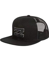 Lyst - Billabong Spinner Trucker Hat in Black for Men c618afeb5d42
