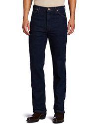 Wrangler - Western Traditional Bootcut Slim Jean - Lyst