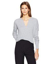 Calvin Klein - Jeans Long Sleeve Split Neck Henley Shirt - Lyst