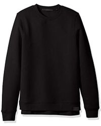 Scotch & Soda - Classic Sweat With Cross Over Neckline And Uneven Bottom Hem - Lyst