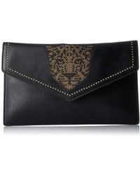 Juicy Couture - Leopard Studded Clutch With Gold Chain - Lyst