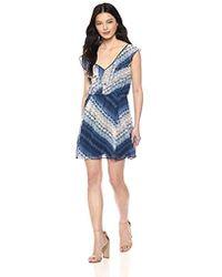 BCBGeneration - Ruffle Front Elasticated Dress - Lyst