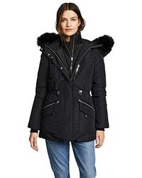 544e668bc Katryn Hip Length Classic Down Jacket With Fur Hood