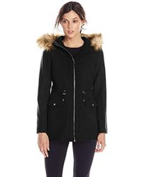 Jessica Simpson - Anorak With Faux Fur Trim Hood - Lyst