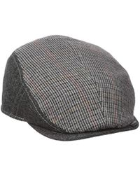 Lyst - Ben Sherman Pieced Fitted Driving Cap in Gray for Men - Save ... 1a210308a17c