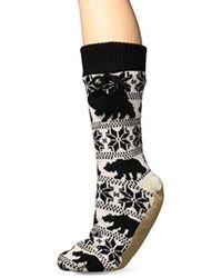 22980570163 Lyst - Muk Luks Winter White 3 Pair Knee High Socks in White