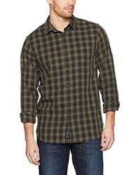 Lucky Brand - Ballona Shirt In Olive Multi - Lyst