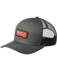 new product b817e 5625e RVCA Breez Ii Trucker Hat in Blue for Men - Lyst