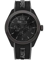 Superdry - 'navigator Posh' Quartz Plastic And Silicone Casual Watch, Color:black (model: Syg215eb) - Lyst
