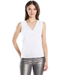 Armani Exchange - | V Neck Tie Bck Detil Sleeveless Jersey Top - Lyst