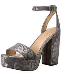 0cb67b218aa2 Nine West - Krewl Fabric Heeled Sandal - Lyst