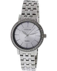 Citizen - Quartz Stainless Steel Casual Watch, Color:silver-toned (model: El3040-80a) - Lyst