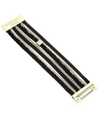 Kenneth Cole - Black Mixed Multi Row Bracelet, One Size - Lyst