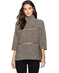 e20742e37062f6 French Connection - Millie Mozart Solid Knits Cotton Sweaters - Lyst