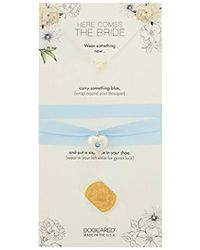 Dogeared - Here Comes The Bride Pearl Necklace, Bouquet Wrap, Sixpence Set - Lyst