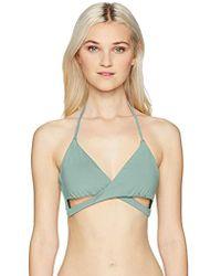 O'neill Sportswear - Salt Water Solids Wrap Bikini Top, - Lyst