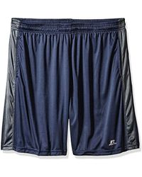f55925124935e Russell Athletic - Big And Tall Dri-power Short With Contrast Side Panel -  Lyst