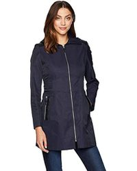 280bb9614a60 Eddie Bauer Girl On The Go Insulated Trench Coat in Blue - Lyst