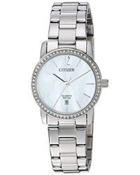 Citizen - ' Quartz Stainless Steel Casual Watch, Color:silver-toned (model: Eu6030-81d) - Lyst