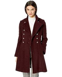 Guess - Military Inspired Fit And Flare Fashion Wool Coat - Lyst