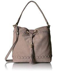 MILLY - Astor Suede Whipstitch Bucket Bag - Lyst