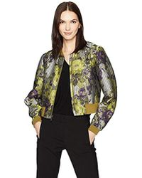 BCBGMAXAZRIA - Colin Woven Floral Bomber Jacket - Lyst