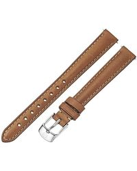 Michele - '12mm Straps' Leather Watch Band, Color:brown (model: Ms12aa270216) - Lyst