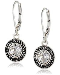 Napier - Color Declaration Swarovski Lever-back Drop Earrings - Lyst