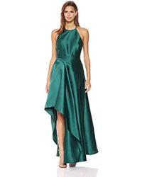 Badgley Mischka - Sculptural Satin Gown - Lyst