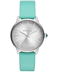DIESEL - 'castilia' Quartz Stainless Steel And Leather Casual Watch, Color:blue (model: Dz5564) - Lyst