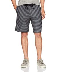 Lyst - Kenneth Cole Reaction Men s Striped Elastic Drawstring Shorts ... ddb699ca6