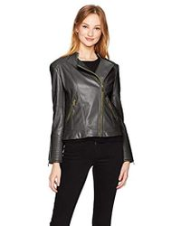 Calvin Klein - Pu Jacket With Seaming - Lyst