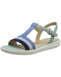 1ba51f36695 Lyst - Geox Artie 14 Cross Strap Slide Sandal in Blue