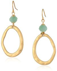 The Sak - Beaded Link Double Amazonite Drop Earrings - Lyst