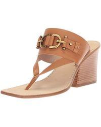 0989c1d05 Lyst - Donald J Pliner Mimi T-strap Thong Sandal in Brown