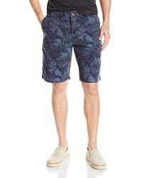Lucky Brand - Palm Print Flat Front Short - Lyst