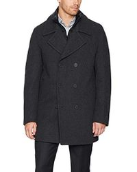 Marc New York - Mapleton Herringbone Peacoat With Removable Quilted Bib - Lyst