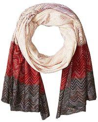 BCBGMAXAZRIA - Chevron Knit Wrap - Lyst