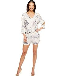 1782b7fd5e62 Michael Stars - Shibori Print Romper With Slit Sleeves