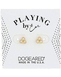 Dogeared - Pe Cz Trio Studs Earrings, Gold - Lyst