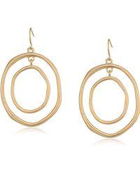 The Sak - Large Metal Orbit Drop Earrings - Lyst
